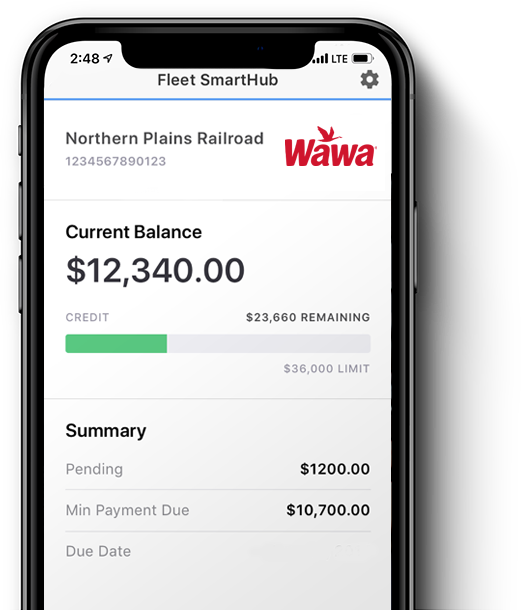 Wawa mobile app on smart phone